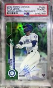 Kyle Lewis 2020 Topps Chrome Auto Rc /99 Green Refractor Pop 5 Mariners Psa 10