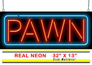Pawn Neon Sign | Jantec | 32 X 13 | Pawn Shop Antiques Store Gold Silver Rings