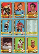 1972-73 O-pee-chee Complete Set Of 340 Hockey Cards Ex/mt - Nm