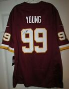 Nfl Washington Football Team Chase Young 99 Rookie Season Autographed Jersey L