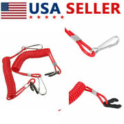 2 Pcs Boat Kill Engine Stop Switch Safety Lanyard Clip For Yamaha Outboard Motor