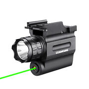 Compact 600 Lumens Green Red Laser Gun Weapon Pistol Light Led Flashlight Combo
