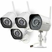 Zmodo Outdoor Security Camera 4 Pack 1080p Full Hd Wireless Cameras For Home ...