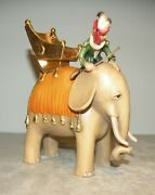 Elephant With Rider For Kastlunger Nativity 8 Centimeters Wood Figurines Lepi