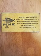 Vintage Antique Pike Manufacturing Co. Saw Jointer Brand New Original Box   1