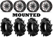 Kit 4 Efx Motohavok Tires 35x8.5-22 On Msa M35 Bandit Red Wheels 550
