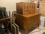 Library Card Catalog And File Drawers Not Reproductionandnbsp