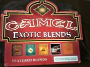 New Camel Exotic Blends 2 Double Sided Lighted Plastic Sign 26andrdquo X 22andrdquo X 6.5