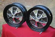 65 66 67 Mustang Styled Steel Wheels New Pair 14 X 5 Show Quality Never Moun