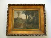 Antique Painting Charles Deklyn T Impressionist Landscape American Listed Rare