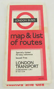 Vintage 1970and039s London Buses Map And List Of Routes Transport No.2 1971 Fold Out