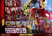 Dhl Express Hot Toys 1/6 Iron Man 2 Mms462d22 Mk4 Mark Iv With Suit-up Gantry
