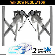 2pcs For 91-01 Ford Explorer Front Left Right Power Window Regulator W/ Motor