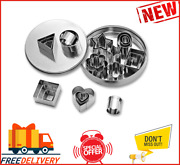 24 Piece Mini Geometric Stainless Steel Biscuit Mould Cookie Biscuit Cutter Set