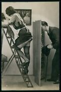 Ladder Maid And Voyeur French Nude Biederer C1925 Photo Postcard Lot Set Of 5
