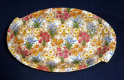 Royal Winton Chintz Marguerite W/ Gold Trim 9-3/4 Dual Serving Tray Candy Dish