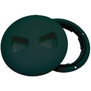 Black Marine/boat Round Deck Access Plate Fits 4.5 Id Hole