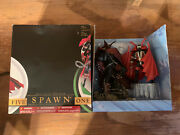 """Spawn I And V Double Statue Set 10"""" Inch Boxed Great Condition Todd Mcfarlane"""