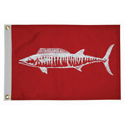 Taylor Made 12 X 18 Wahoo Flag - Fishermanand039s Catch Flags - 4118