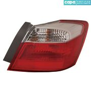 New Left Outer Tail Light Assembly Fits Honda Accord 2013-2015 Ho2804101c Capa