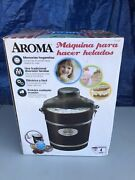 Vintage Aroma Old Fashioned 4 Quart Ice Cream Maker Aic-224wp New See Pic