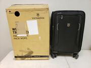 Victorinox Wt 6.0 Softside Spinner Luggage - Black Carry On Global 22