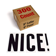 Changeable Outdoor Sign Letters 8� Portable Flex Letters 300 Count Helvetica 8�