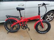 E-lux Sierra Foldable Electric Bike Fat Tire Red Sold Out