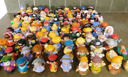 Fisher Price Little People Lot Of 100 Figures Disney Snow White Mickey Batman Vg