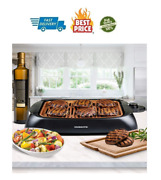 Portable Electric Grill Bbq Indoor Outdoor Smokeless Griddle Compact Barbecue