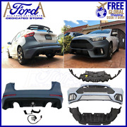 Conversion Ford Focus Rs 2015-2018 Front And Rear Bumper Cover Kit New G1ez-17906