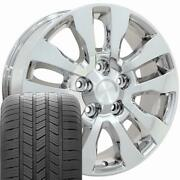 69533 Chrome 20 Wheel And Goodyear Tire Set Fits Tundra And Land Cruiser
