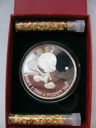 1-oz. Pure Silver Tweety Bird Bugs Bunny 50th Anniversary 1990 Coin +gold .