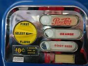 😎😎😎😎😎😎😎1960s Coin .10 Cents Operated Machine Pepsi-cola Orange Root Beer