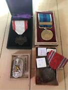 Ww2 Former Japanese Army Navy Medals 4pcs Meiji37-38 Free Shipping Fr Jpm4718
