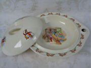 Royal Doulton Bunnykins Albion Shape Covered Hot Water Plate Dressing Up No. One