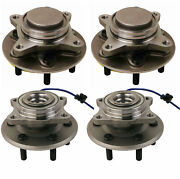 Moog Front And Rear Wheel Bearing And Hub Assemblies Kit For Ford Lincoln Rwd