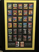 🔥1974-2005 History Of Topps Football Wax Packs Custom Art Framed And Matted