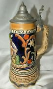 Musical German Beer Stein Man And Woman Thorens Harry Limearmy Soldier 1952