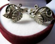 Awesome Vintage 1960s Earrings Stud Sterling Silver 925 Jewelry Ussr Beautiful