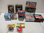 Dale Earnhardt Assorted Lot With Die Cast Ornaments Night Light