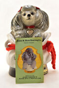 Jim Beam 1973 Adorable Tiffiny Poodle Mascot Dog In Purse Decanter Empty