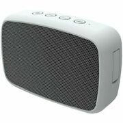 Gray Portable Rechargeable Wireless Bluetooth Speaker With 3.5mm Aux Cable