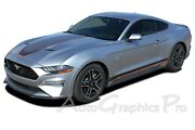 2018-2021 Ford Mustang Mach 1 Racing Stripes Graphics Super Sonic Hood Decals