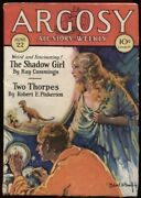 Argosy 1929 June 22. Contains The Shadow Girl Pt. One Pulp