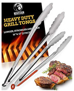 Grill Tongs For Cooking Bbq -heavy Duty Grilling Tongs For Cooking And16 Barbecue