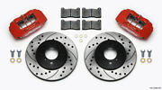 Wilwood Dpha Front Caliper And Rotor Kit Drill Red Honda / Acura W/ 262mm Oe Roto