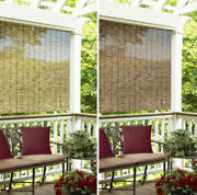 Indoor Outdoor Window Blinds Natural Bamboo Roll Up Shade Sun 4and039-6and039 In 2 Colors