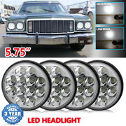 Chrome 5.755 3/4 Inch Round Led Headlights Hi-lo Sealed Beam For Ford Mustang
