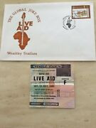 Live Aid Concert Ticket Stub Wembley 13th July 1985 And Live Aid First Day Cover